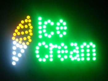 Eis Tüte LEDS Schild Ice cream LED sign