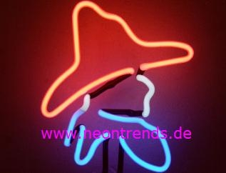 Cowboy Neonleuchte Neon signs Wild West Salon Neonschild news