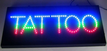 TATTOO LED Schild signs Display signs Leds Tattoostudio news
