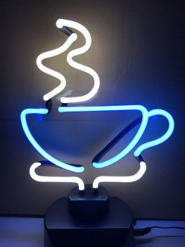 Tee Tasse tae time cup Neon sign light Tables Neonleuchte retro