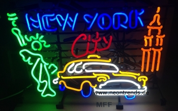 New York City Taxi Neonreklame neon Leuchtreklame light signs  N