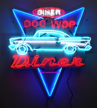 neontrends advertising cars diner doo wop neonreklame neon signs neonschild news cars diner. Black Bedroom Furniture Sets. Home Design Ideas