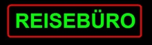 Reisebüro Neonreklame  Neonscript Neon sign Travel Shop signs ne