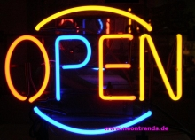 OPEN multicolor Neonreklame neon light sign retro Reklame news