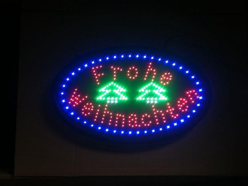Led Frohe Weihnachten.Frohe Weihnachten Led Leuchtwerbung Leds Schild Signs News