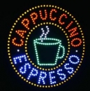 LED sign Expresso Cappuccino Cup Panel