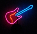 Gitarre Neonreklame neon sign Tables Neonleuchte Guitar signs