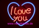 I Love you Neon sign Tables Neonleuchte news Liebe