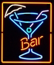 Bar Cocktail Glas Neonreklame neon sign Leuchtreklame neu