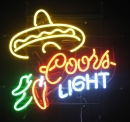 SOMBRERO Coors light Mexiko Hut neon sign Neronreklame