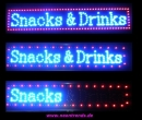 LED Snacks & Drinks signs blue red sign