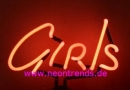 GIRLS Neonleuchte Neonreklame neon sign tables light Lamp news