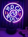 ROCK ROLL Musik Neon Tables sign Neonleuchte Neonreklame