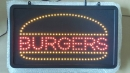 BURGERS LED signs Bord Panels news Food LEDs Schild news