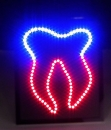 Led Schild Zahn Tooth sign LEDs Bord Panel Leuchtreklame news