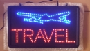 LED Leuchtreklame Travel Shop Reisebüro Bord LEDs Panel Schild