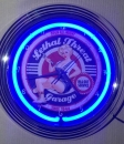 GARAGE Service Neonclock neon  sign blue Neonuhr Wanduhr news