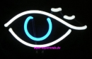 Auge Neon signs eye Neonleuchte Tables Neonreklame news