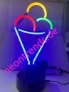 Eis Ice cream Neonreklame Neonleuchte Softeis Neon sign neu
