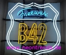B 42 Freeway Los Angeles neon sign signs news