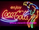 Cola Parrot Neonreklame Neonschild Bar sign light  news